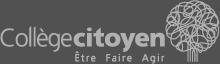 Collège citoyen logo blanc